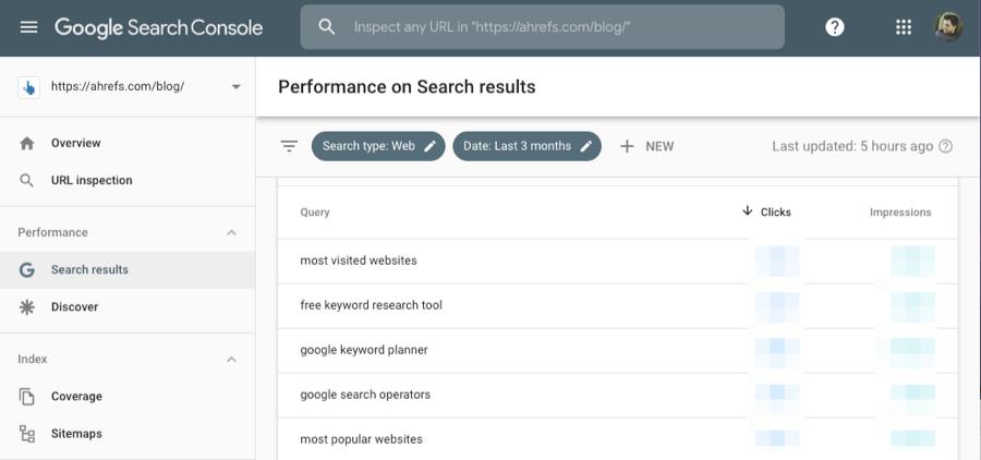 ahrefs search console