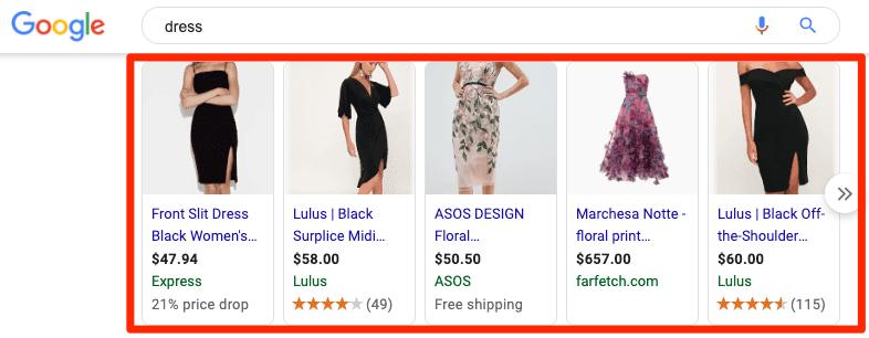 dress ads