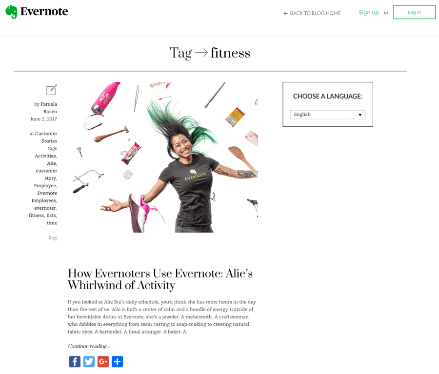 evernote tag page