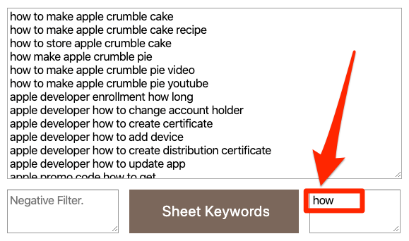 keyword sheeter how