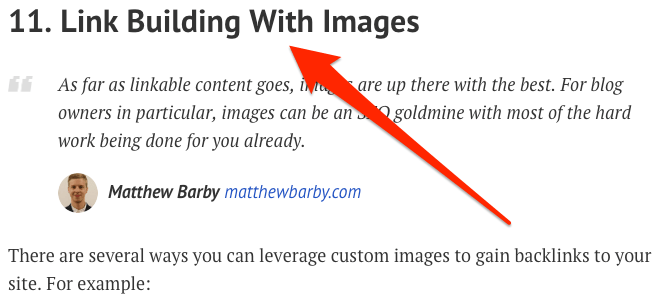 link building with images