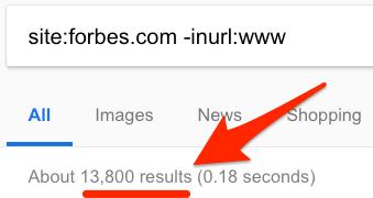 non www version google