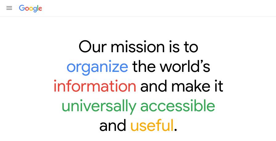 google organize the worlds information