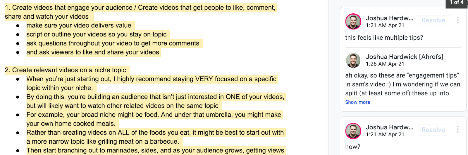 outline how to get more views