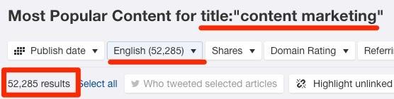 title content marketing content explorer