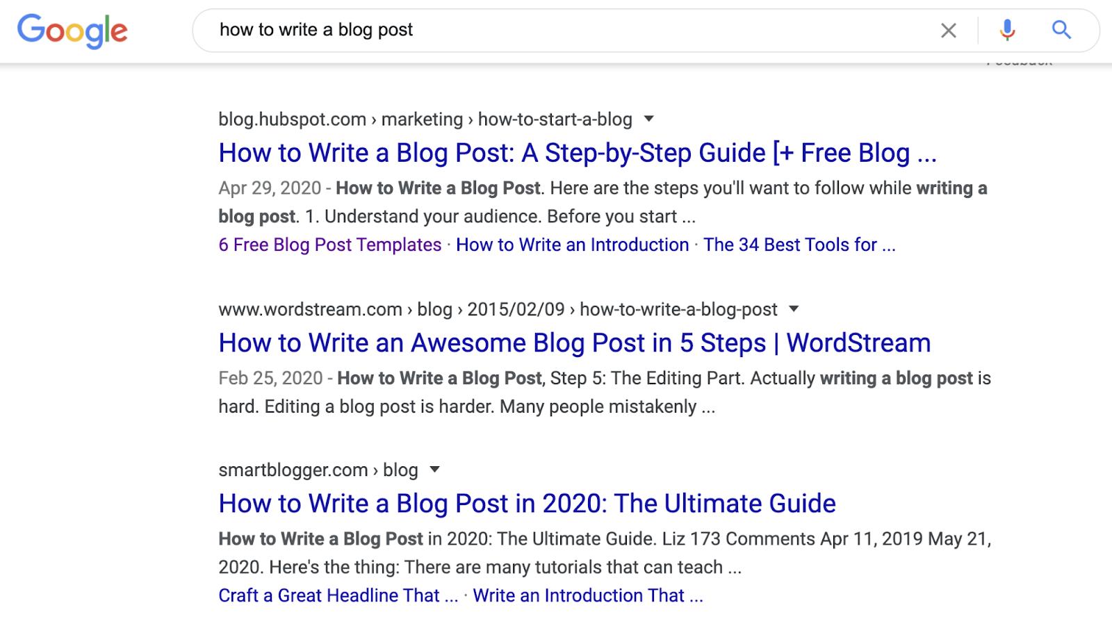 14 Comment écrire un article de blog SERP