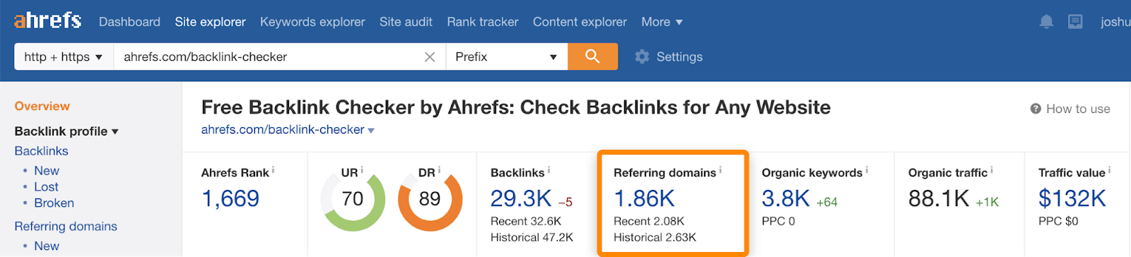 7 free backlink checker referring domains
