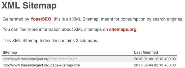 sitemap index