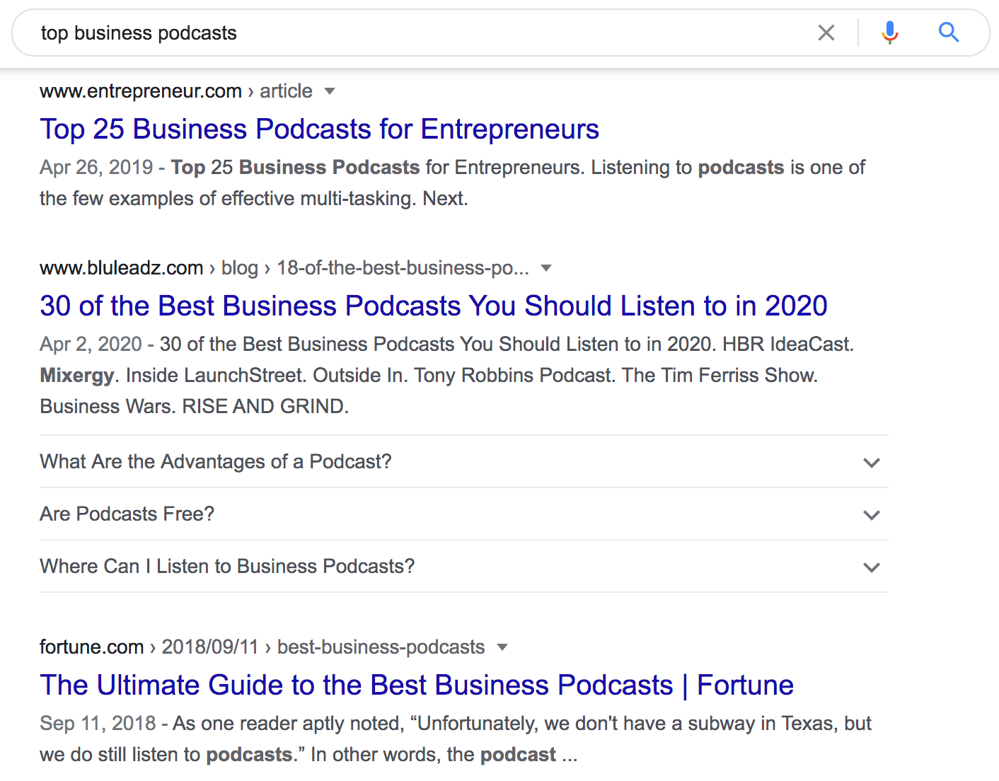 top business podcasts Google Search