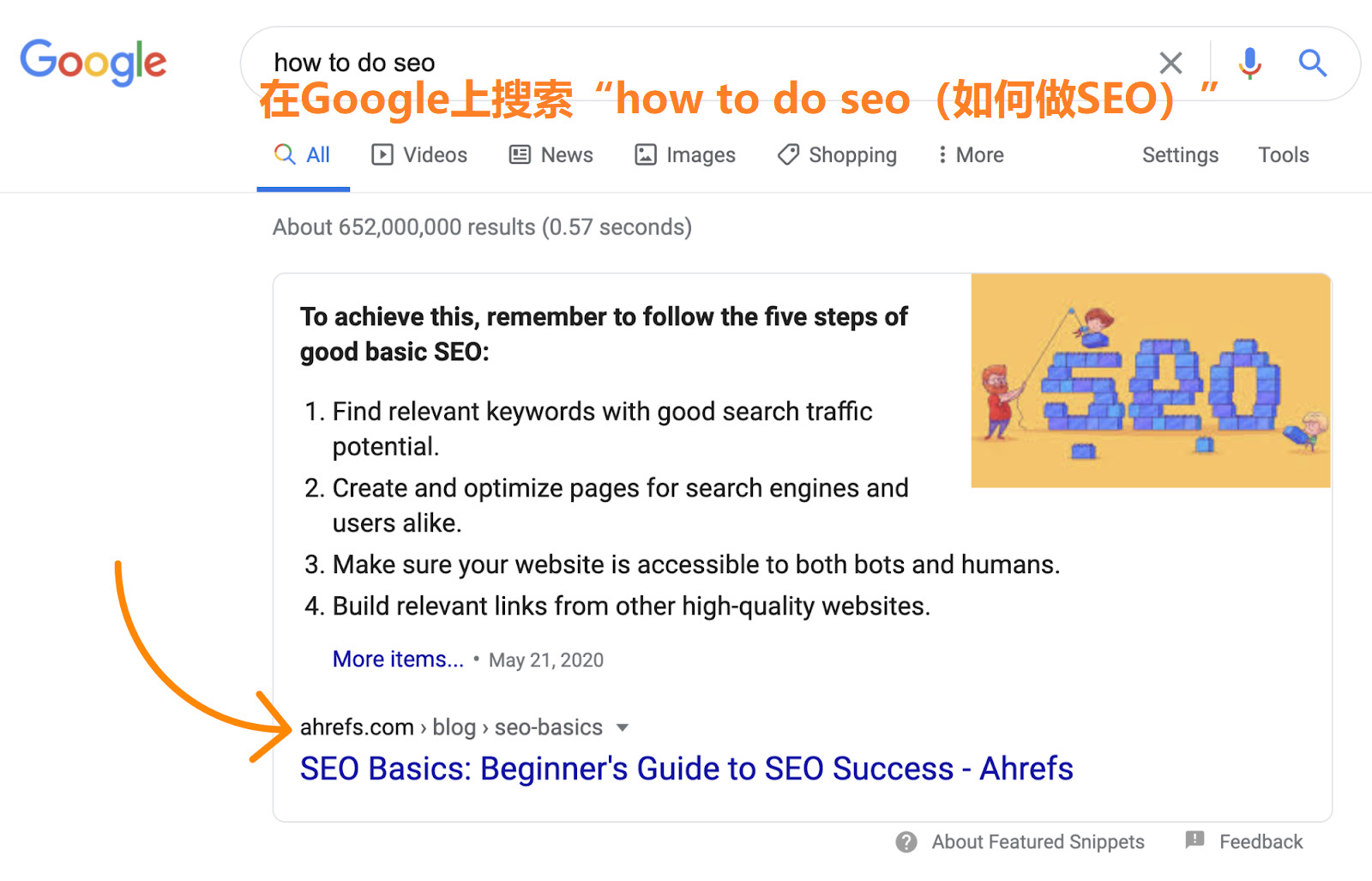 1 how to do seo google search 2