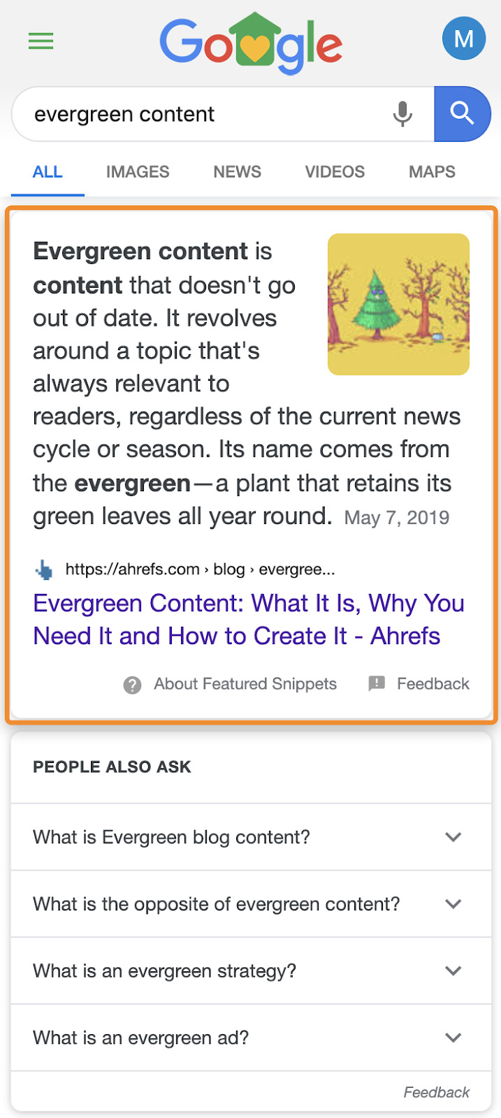 15 featured snippet mobile