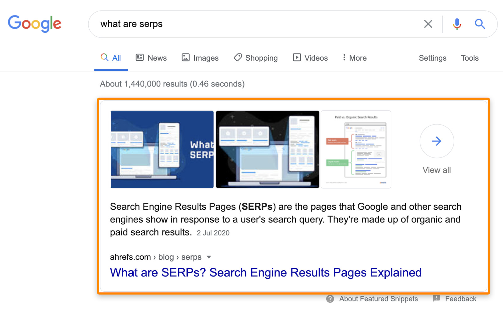 27 featured snippet