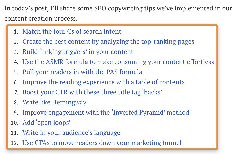 28 contents list posts