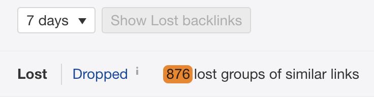 33 lost backlinks