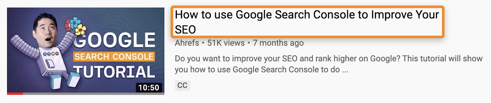 9 ahrefs youtube title