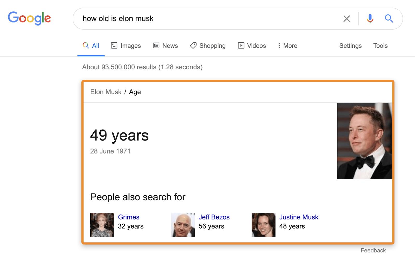 3 Google Antworten Wissensdiagramm