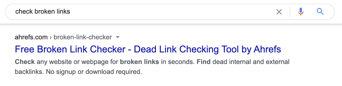 4 check broken links meta description