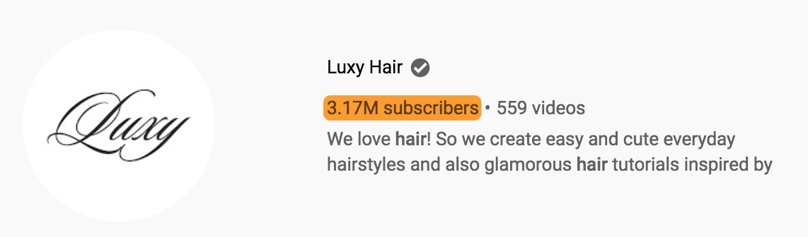 4 luxy hair subscribers