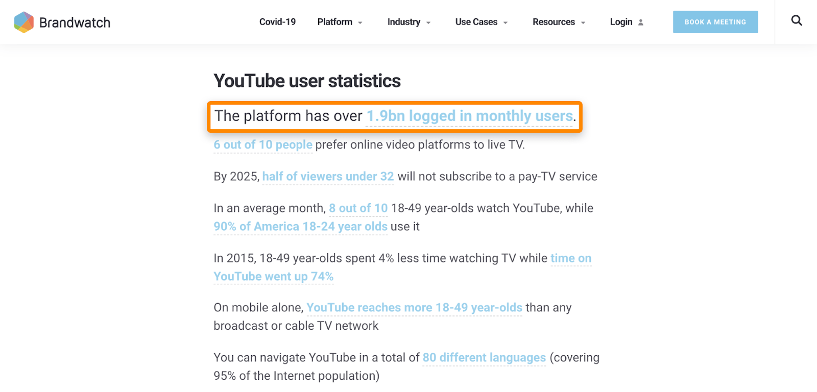4 outdated statistic
