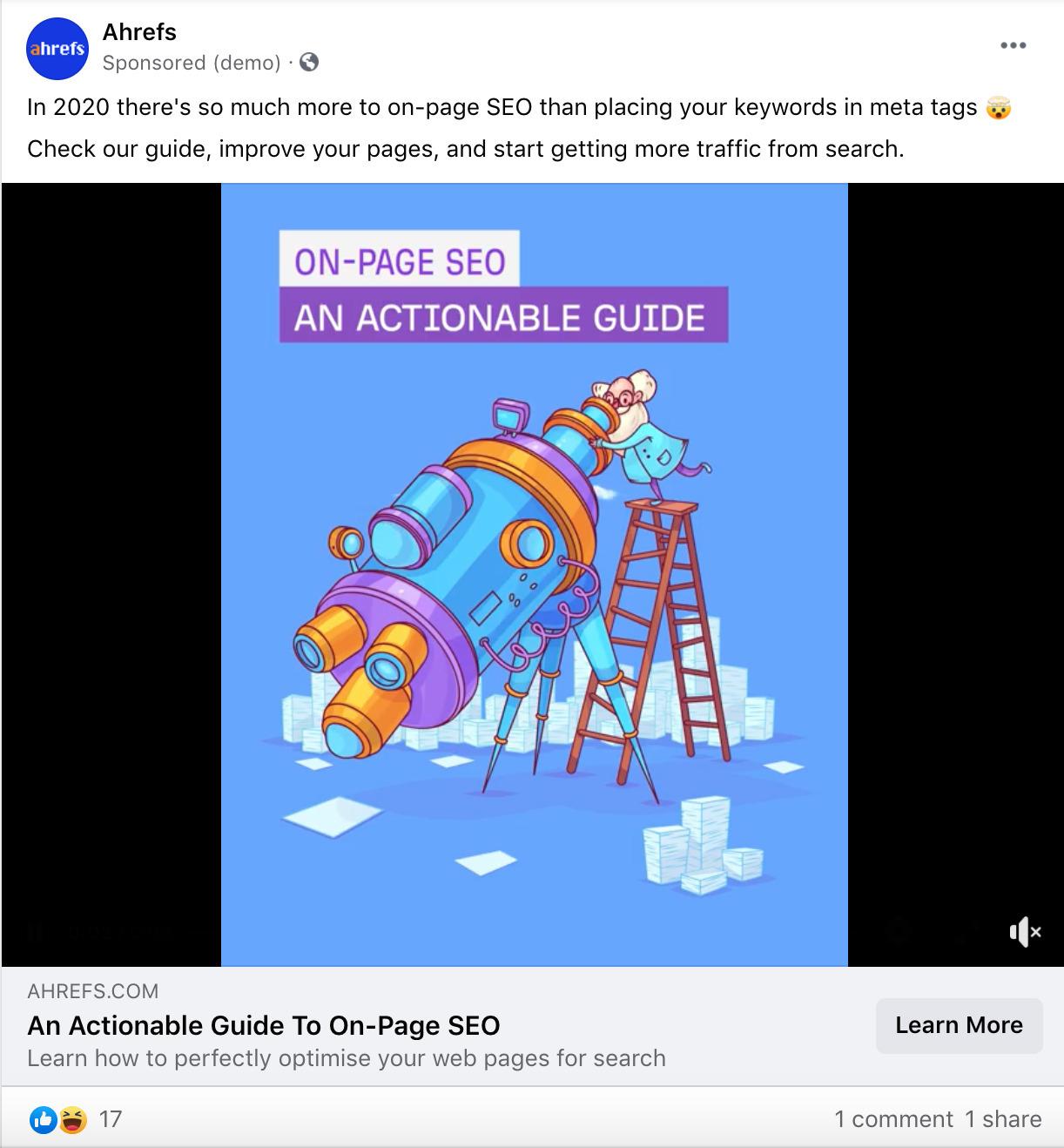 9 facebook ad