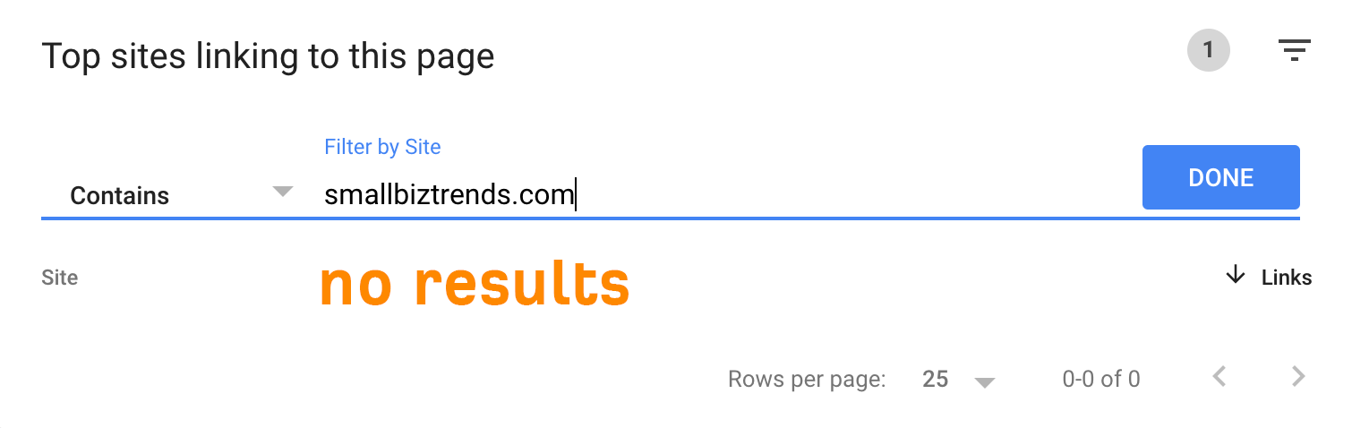 9 no results domain gsc