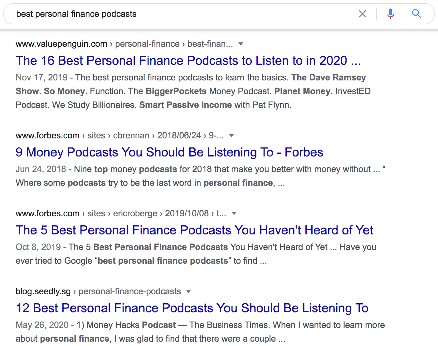best personal finance podcasts Google Search