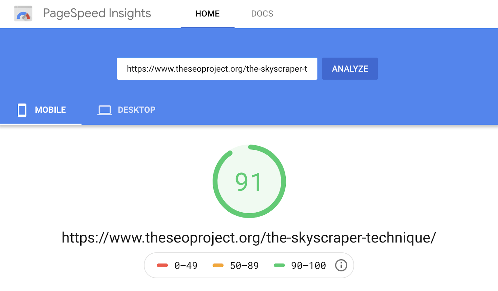 3 pagespeed insights fast