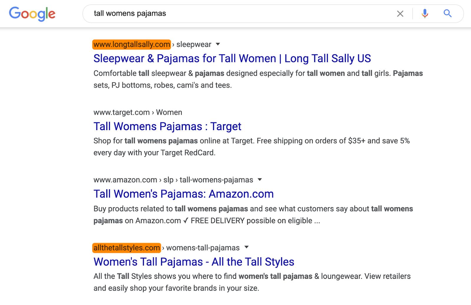 12 tall womens pajamas serp