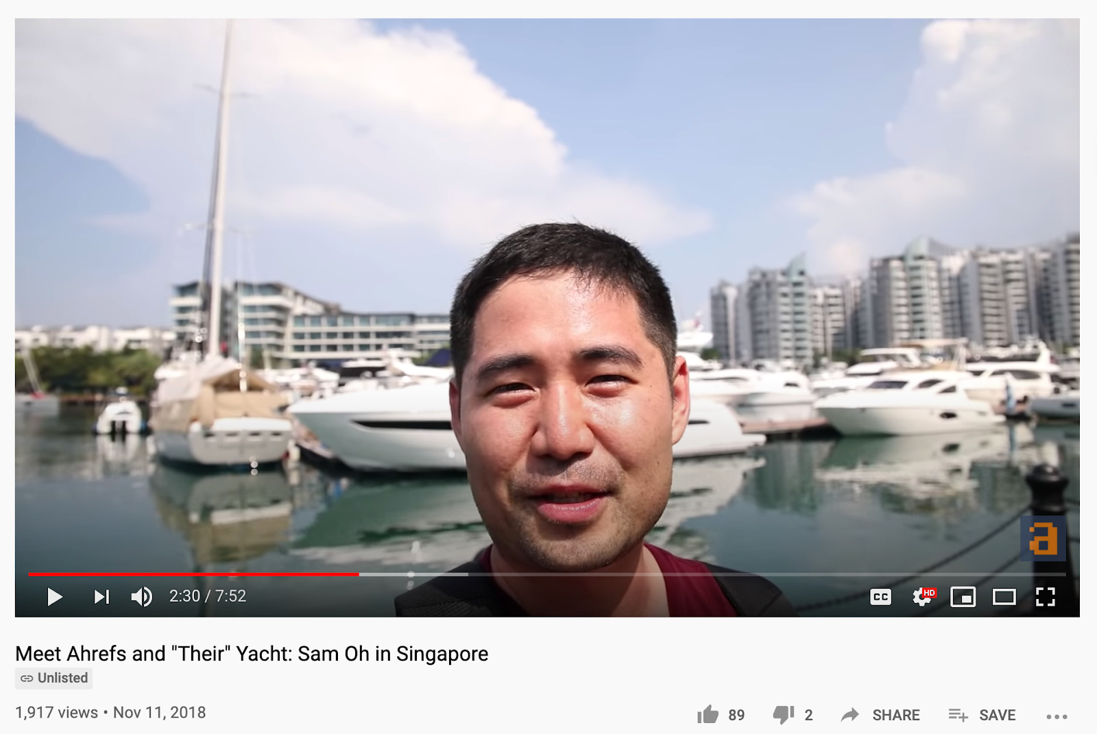 1357  Meet Ahrefs and  Their  Yacht  Sam Oh in Singapore   YouTube