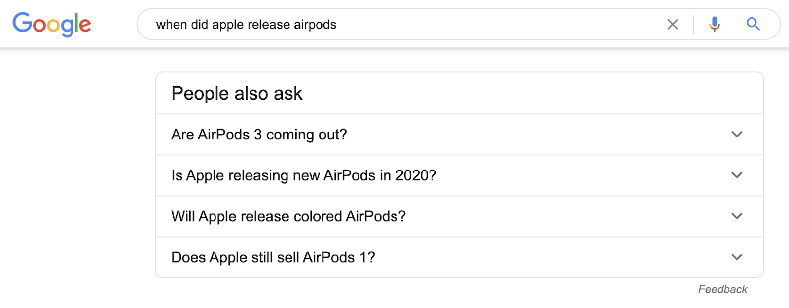 25 when did apple release airpods paa