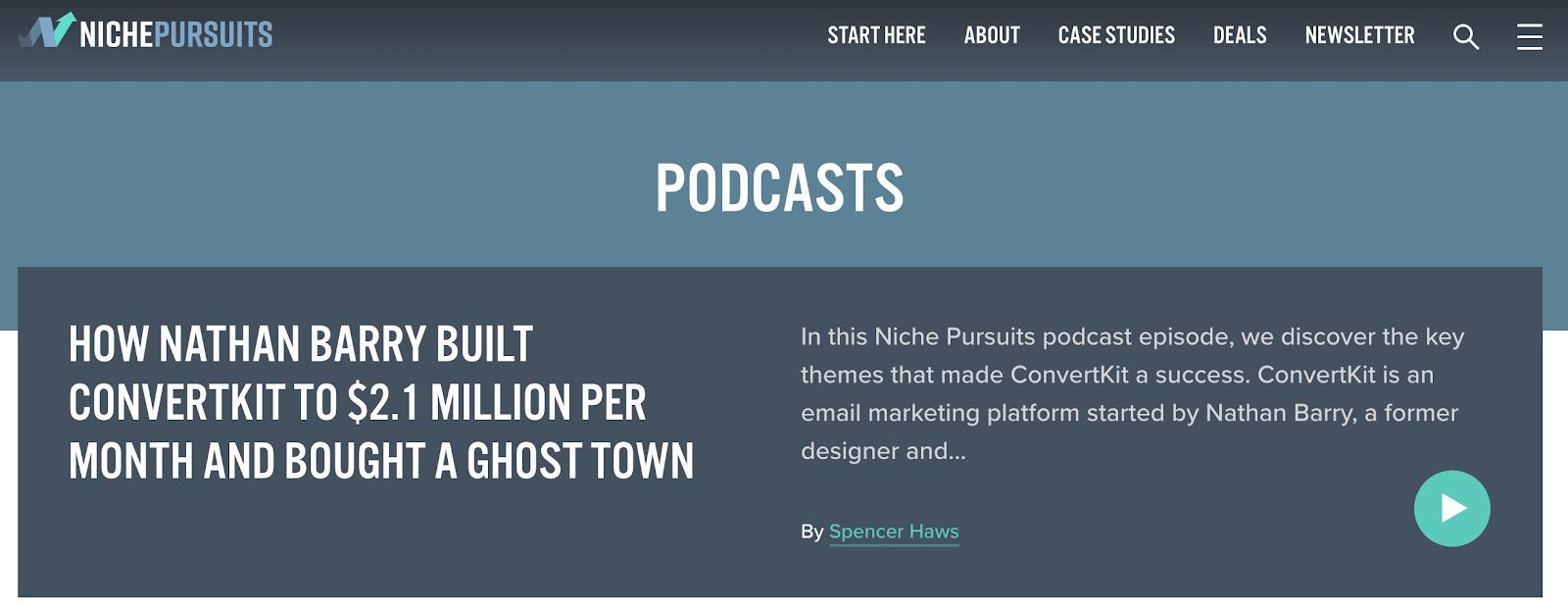 Niche tracks podcast