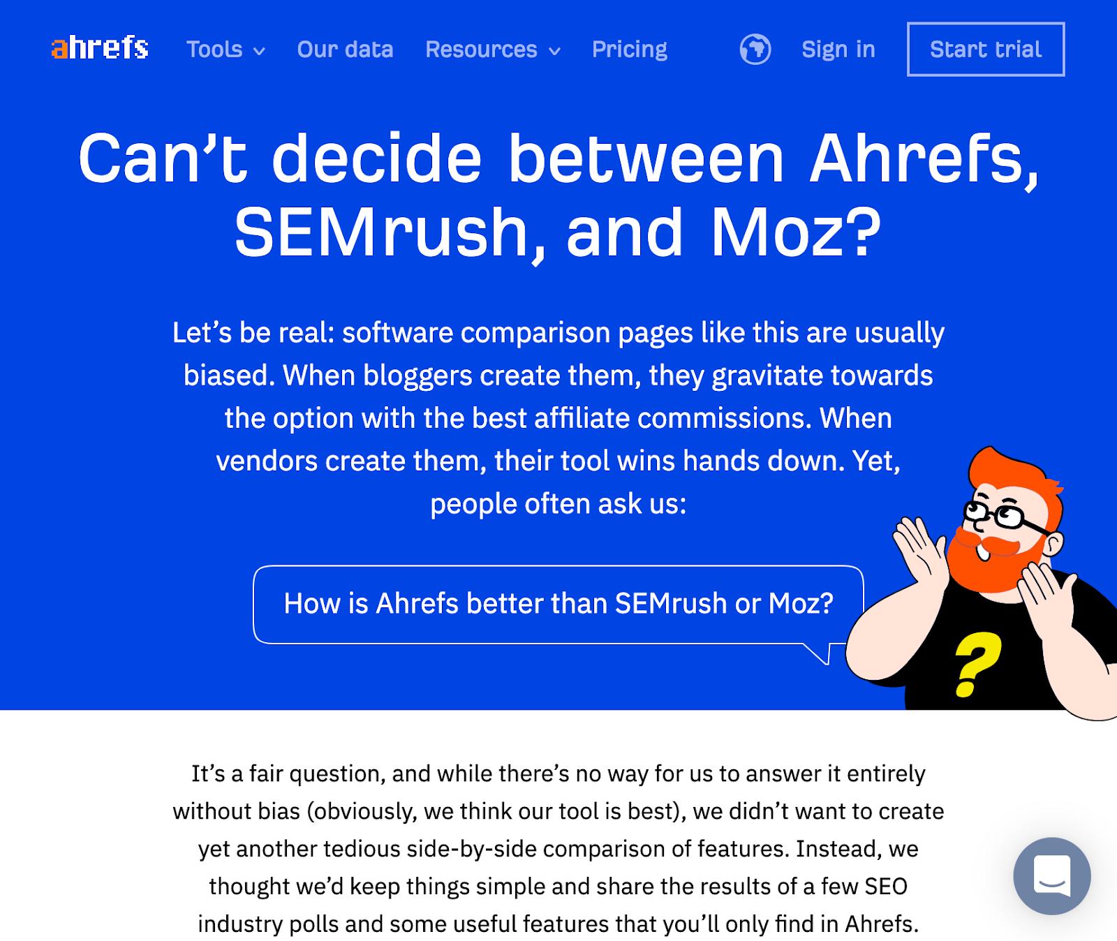 29 ahrefs vs 2