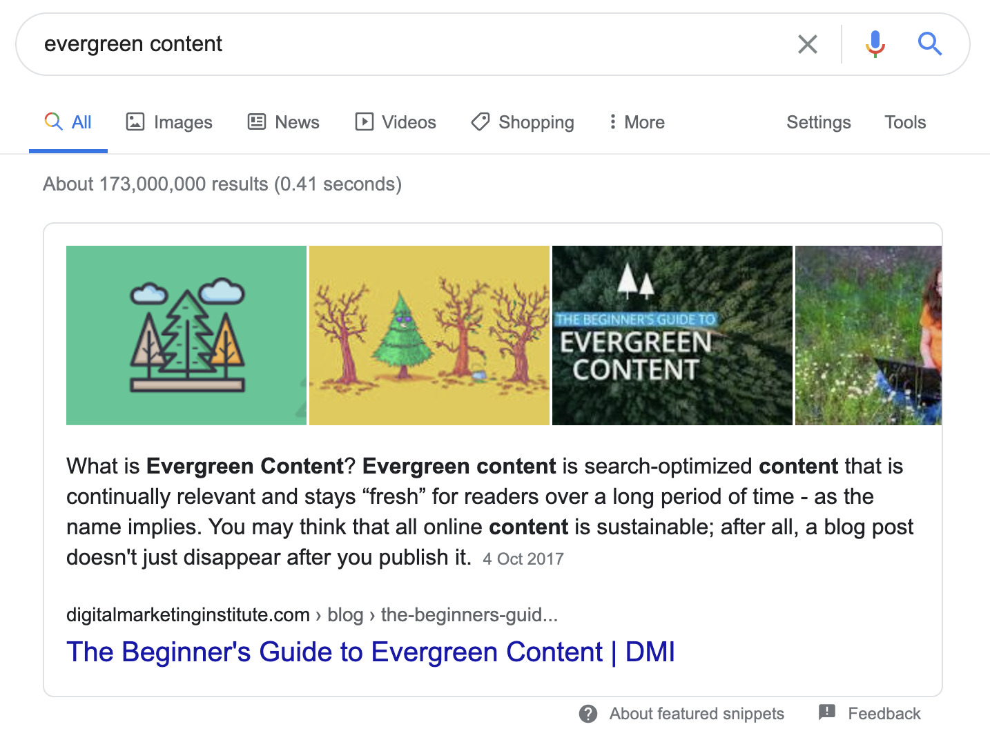 46 evergreen content snippet 2