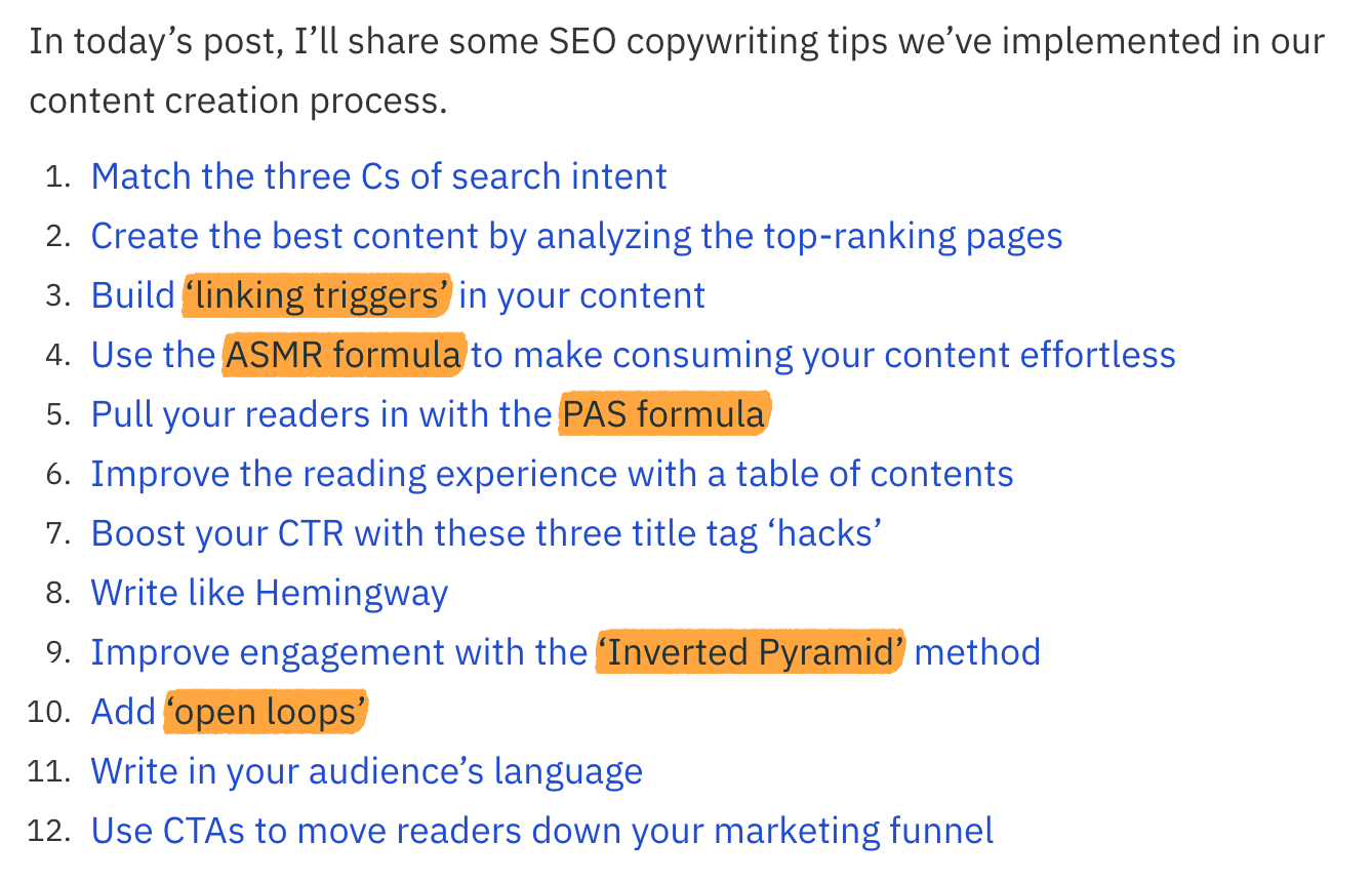 52 unique ideas seo copywriting 2