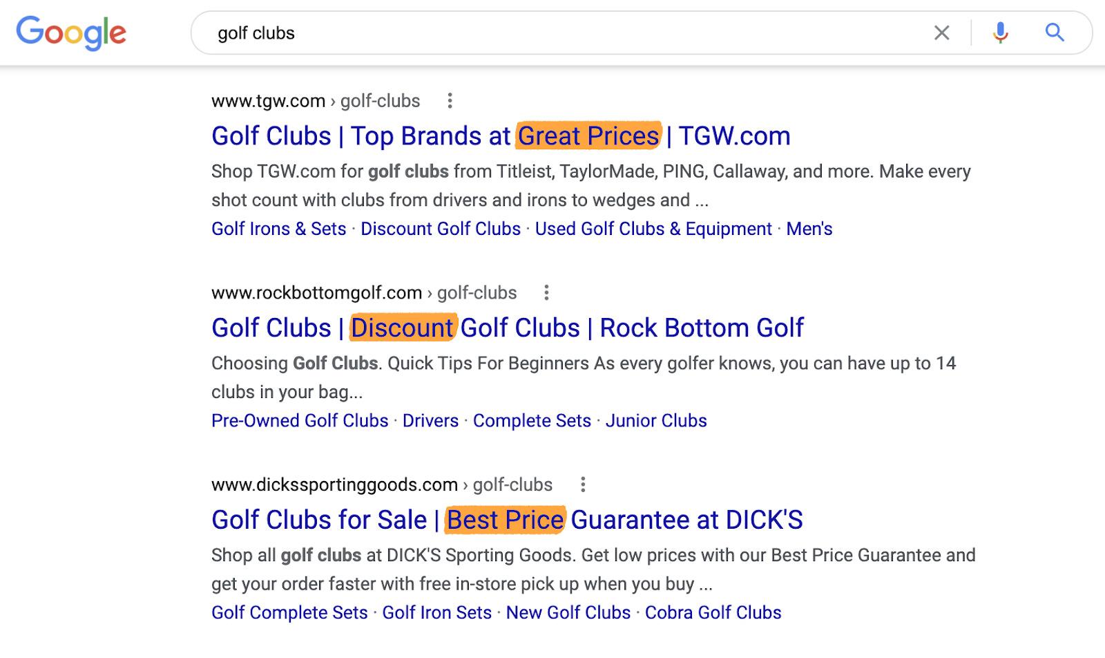 19 golf clubs