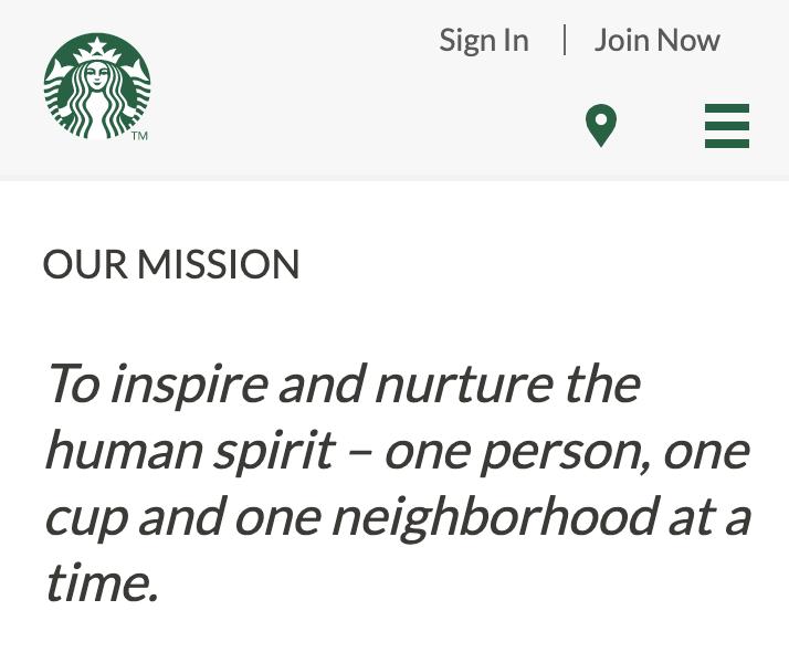 10 starbucks mission
