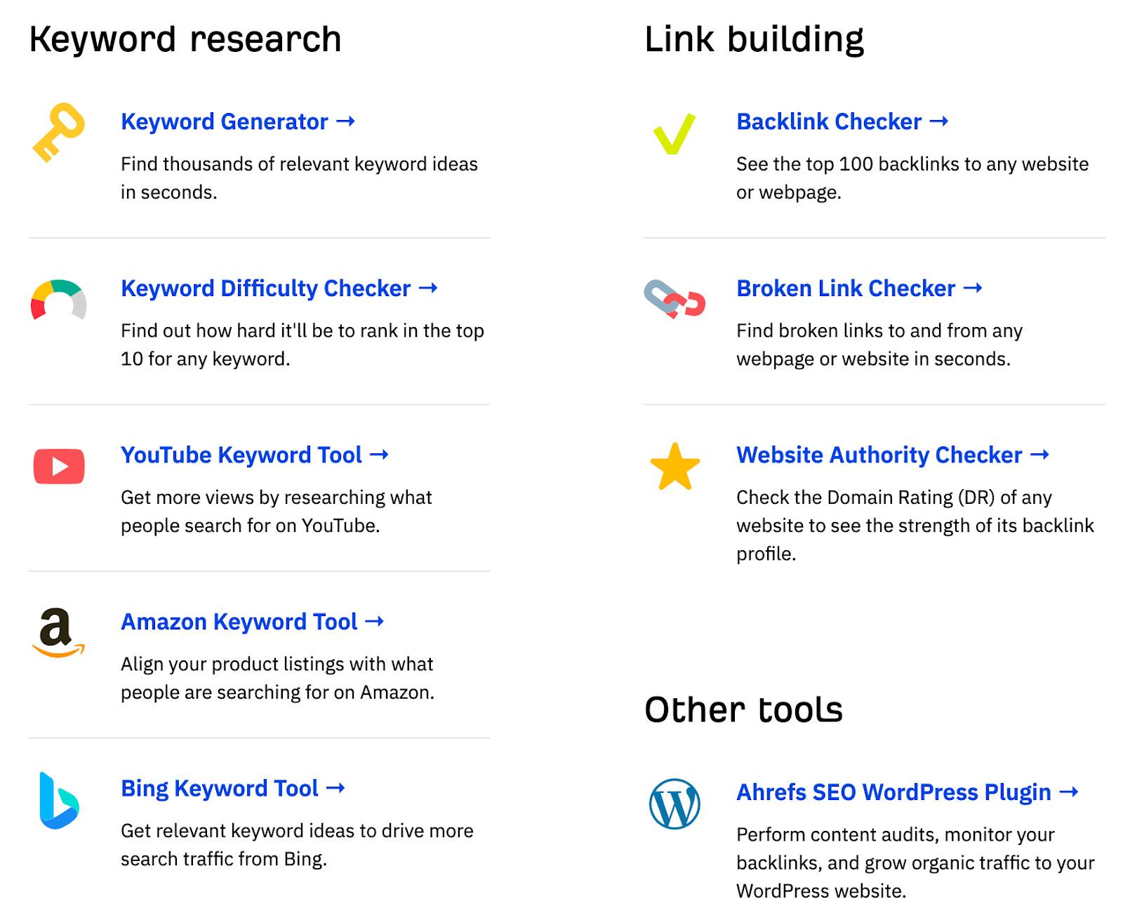 11 ahrefs free seo tools