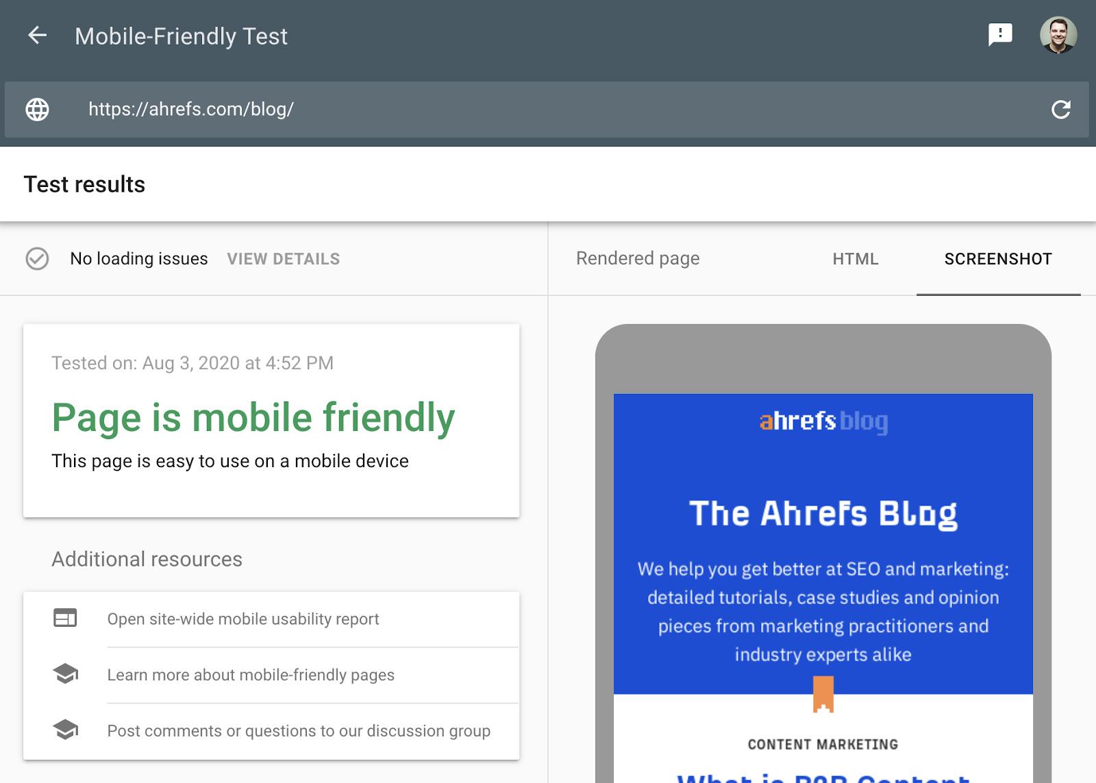 16 mobile friendliness