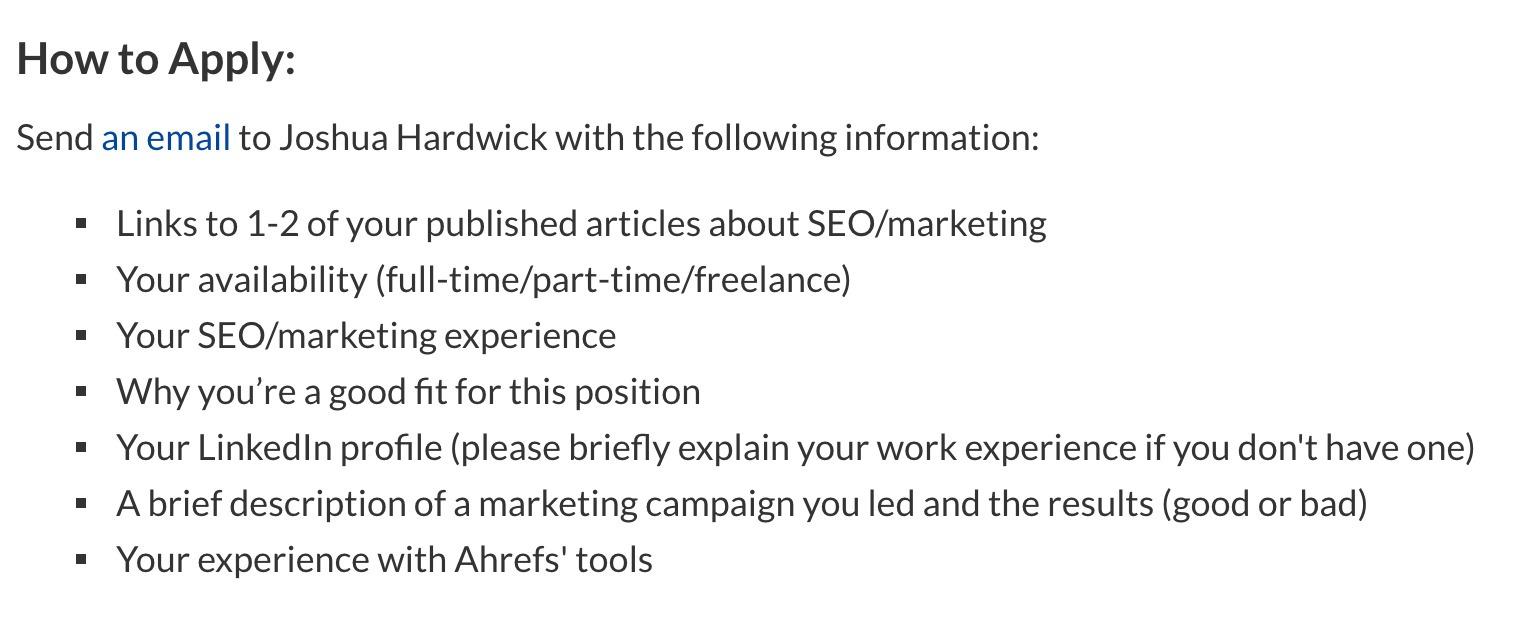 3 ahrefs job description
