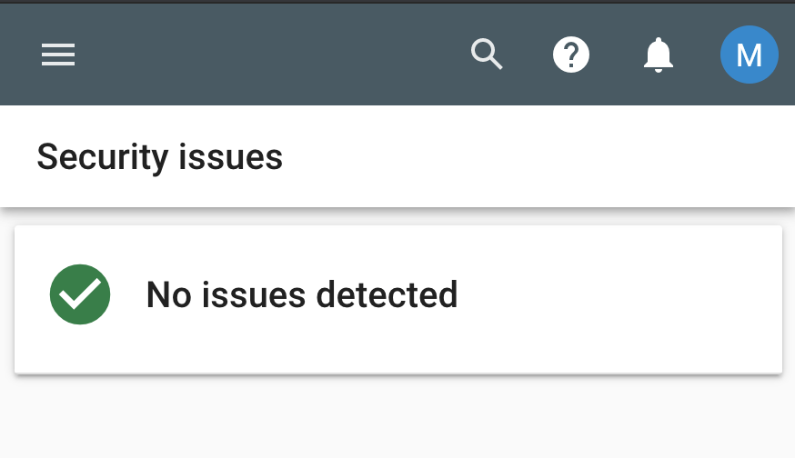 25 security issues google search console