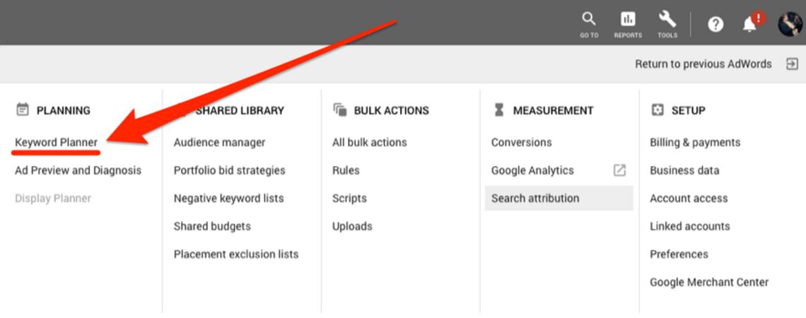 如何免费使用谷歌关键词规划师(Google Keywords Planner)?